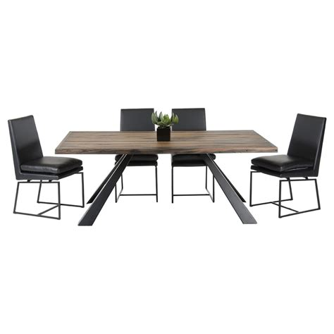 Black And Brown Dining Table Modrest Norse Modern Rectangular Dining Table Brown And Black Dcg Stores