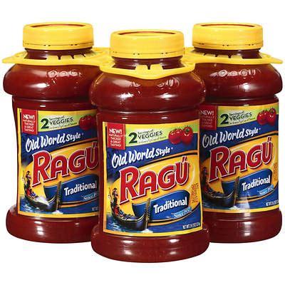 ragu traditional spaghetti sauce  ct oz bjs wholesale club