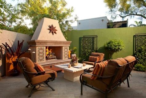 patio interior que significa colores para las paredes del patio o la terraza guia de