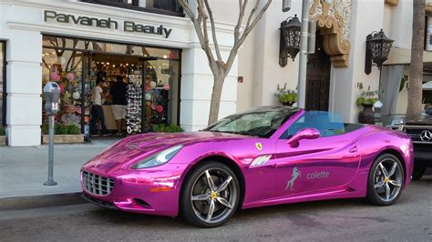 pink chrome ferrari a pornstar s chrome pink ferrari save the leap 12 youtube