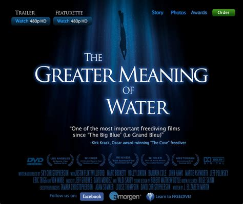 what does water mean the greater meaning of water freediving film