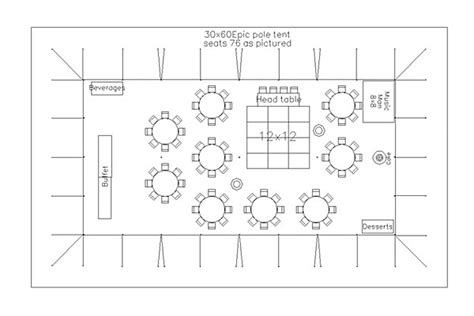 floor plan for wedding reception cad tent layout for wedding reception with 75 guests in