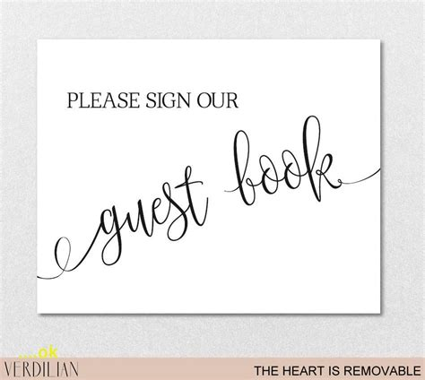 Wedding Guest Book Sign Template Luxury Guest Book Sign Printable Template Please Sign Our Guest Sign Our Guest Book Template