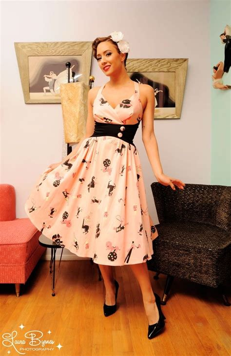 zooey dress in circus print from pin up clothing i