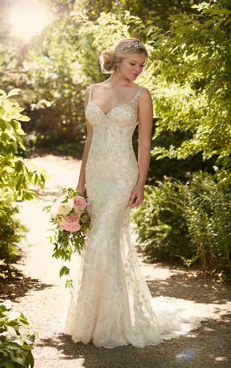 designer lace wedding dress  essense  australia