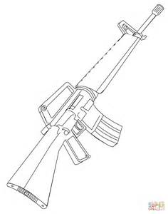 m16 rifle coloring page free printable coloring pages