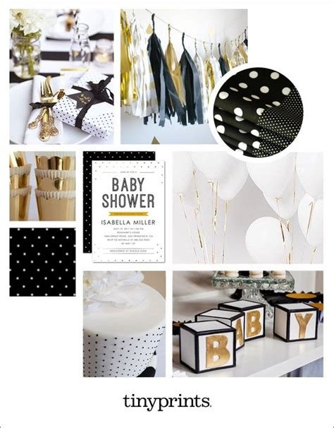 Black And Gold Baby Shower Decorations by Glamorous Black And Gold Baby Shower Inspiration