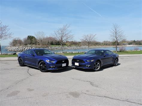 Mustang 3 7 Auto Vs Manual by 2015 Ford Mustang V6 Vs Ford Mustang Ecoboost Autoguide