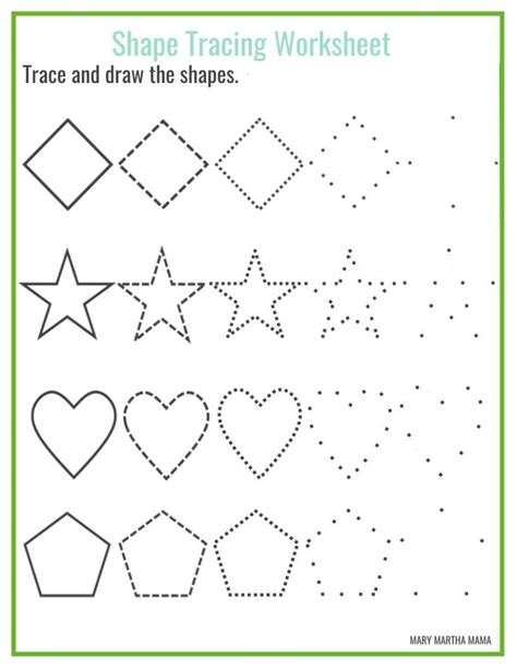 shape tracing templates free printable activities for toddlers worksheet mogenk