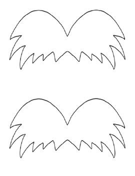 printable lorax eyes lorax mustache template www pixshark com images