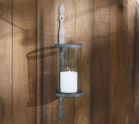 Wall Sconces Pottery Barn Galvinized Metal Candle Sconce Pottery Barn