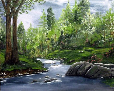 acrylic painting landscape acrylic painted landscape landscape painting