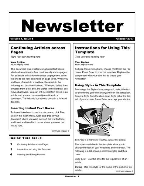 exles of newsletter templates best photos of business newsletter exles business