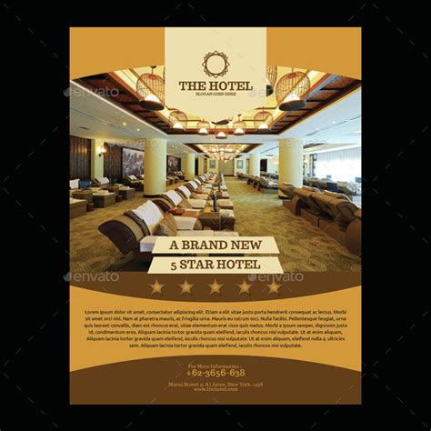 Hotel Flyer Template By Meisuseno Graphicriver Hotel Flyer Templates Free