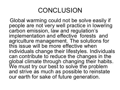 Global Warming Opinion Essay by Global Warming