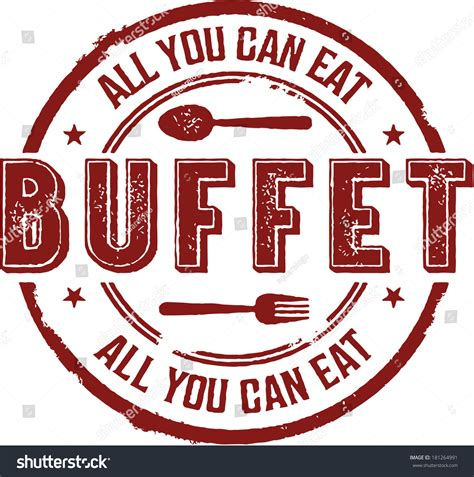 All You Can Eat Buffet Vintage Sign Stock Vector Sign For Buffet