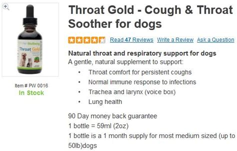 all kennel cough and sore throat remedy