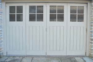 gallery of bespoke bi folding wooden garage doors