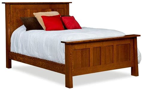 Freemont Mission Panel Bed From Dutchcrafters Amish Furniture