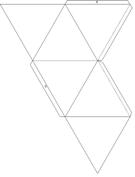 tetrahedron kite template tetrahedron template printable images