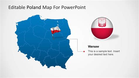 editable poland map template for powerpoint slidemodel