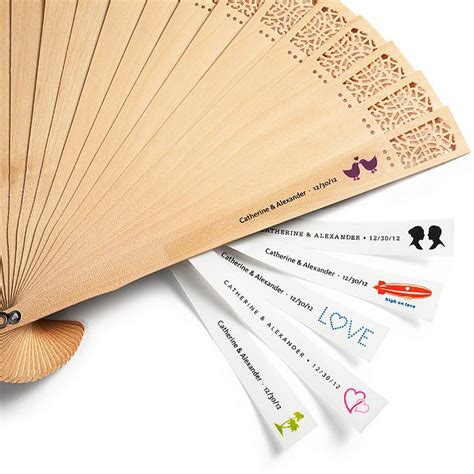 personalized hand fans for weddings wedding gifts personalized hand fan labels 1182002