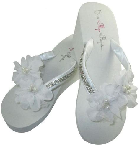 wedding box of flip flops bridal wedge flip flops bling wedding flip flop