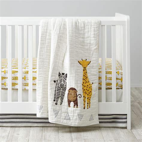 savanna safari crib bedding  land  nod