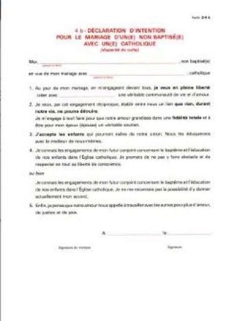 Présentation Lettre D Intention Mariage Modele Lettre D Intention Mariage Religieux