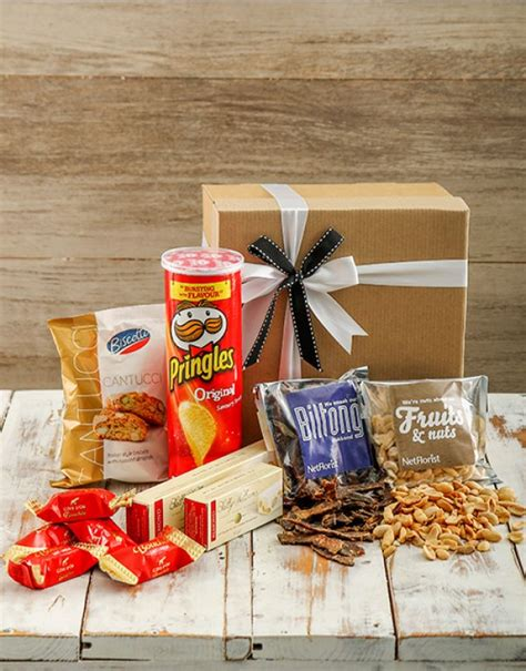 christmas baskets in south africa durban snack her with biltong nuts chocolates chips nougat durban florist