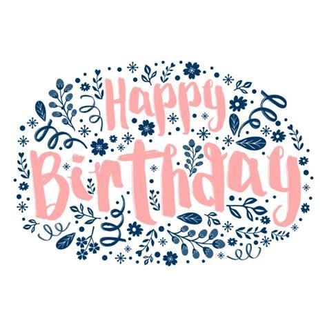 il disegno testo testo di buon compleanno con motivo floreale nel disegno