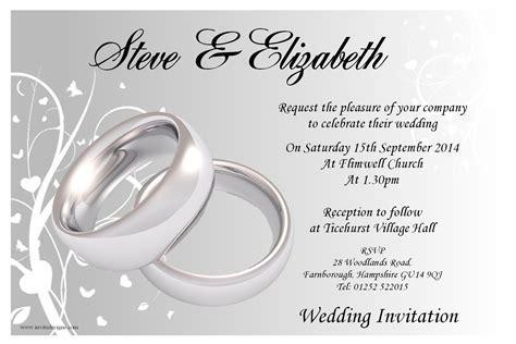 Blank Reception Invitations