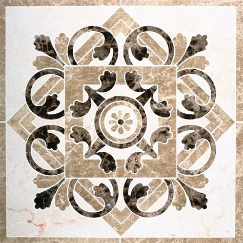marble waterjet medallion for tile floors love them in the foyer or several together in a
