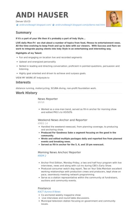 Newspaper Reporter Resume by Reporter Resume Sles Visualcv Resume Sles Database