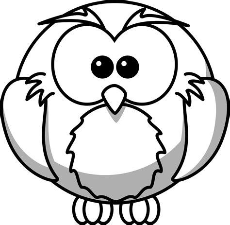 187 Cartoon Owl Black White Line Coloring Sheet Colouring Black And White Colouring Pages