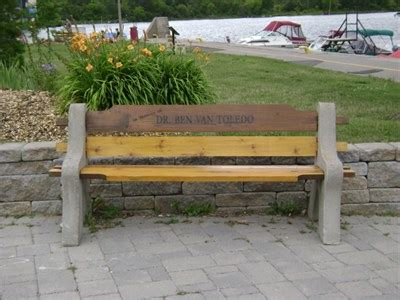 bench canada locations dr ben van toledo midland ontario canada dedicated benches on waymarking com