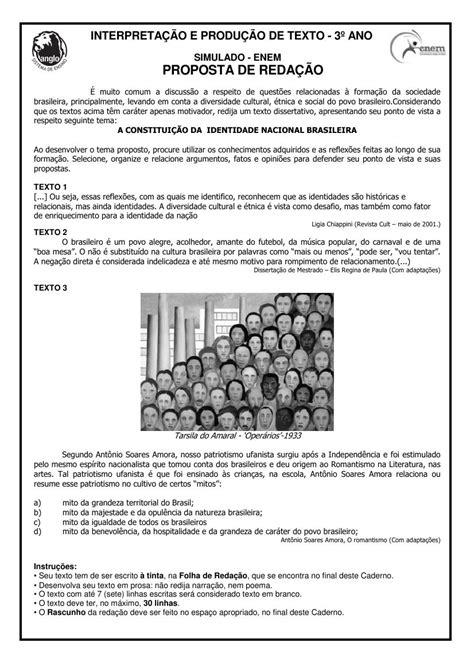 Tô de Altas: SIMULADOS DE REDAÇÃO - ENEM