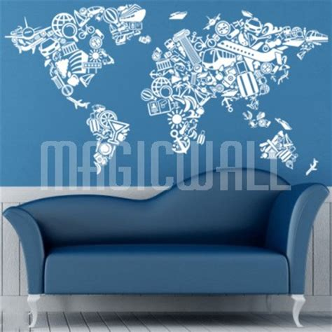 wall sticker world wall decals tourism travel world map wall stickers
