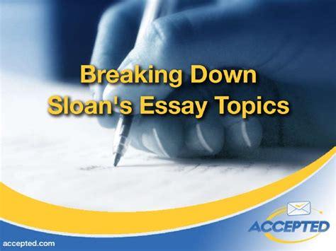 Mit Sloan Mba Essay by Breakdown Of Mit Sloan Mba Admisions Essays