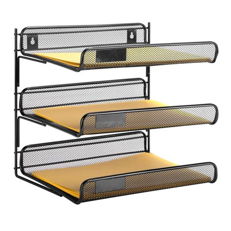 3 tier desk organizer 3 tier desk organizer black