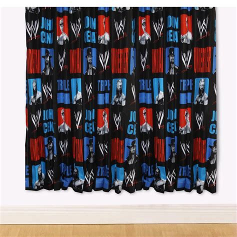 wrestling curtains wwe wrestling trio 66 quot x 54 quot curtains new sealed ebay