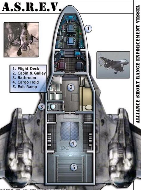 spaceship floor plans firefly alliance interceptor sci fi aircraft pinterest