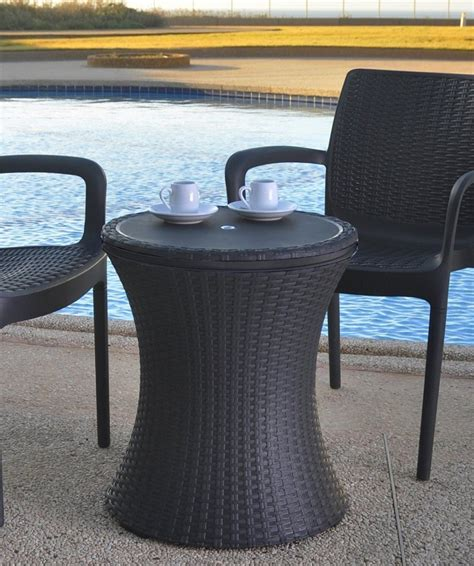 Patio Table With Cooler Keter Rattan Cool Bar Outdoor Patio Cooler Table Patio Table