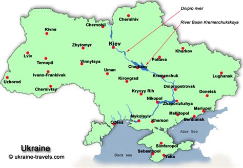 map ukraine cities images and places pictures and info ukraine city map