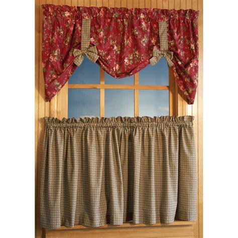 ricardo curtains ricardo climbing roses 56 x 21 inch floral tie up valance