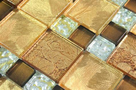 fliese gold glasmosaik fliesen commonwealth gold braun silber