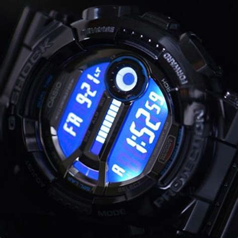 casio g shock memory 60 glossy blue resin gd 110 2d watchain