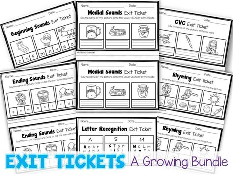 printable exit tickets 1000 ideas about kindergarten assessment on pinterest