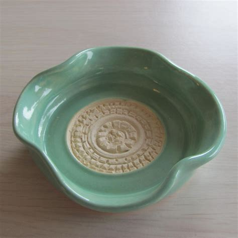 Handmade Ceramic Dishes - garlic grater pottery handmade ceramics turquoise dipping