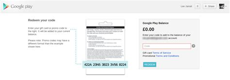 Google Gift Card Uk - google play redeem page now live in the uk gift cards may not be far behind